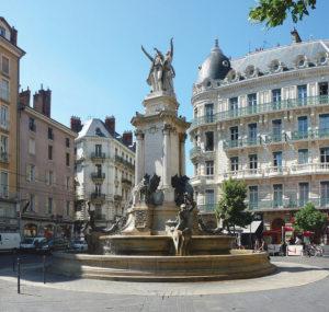 Grenoble fountain