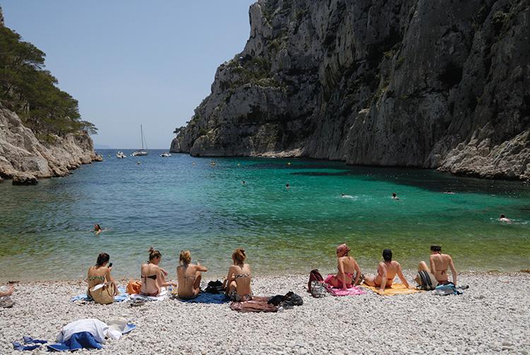 Calanque d'en Vau beach in Provence