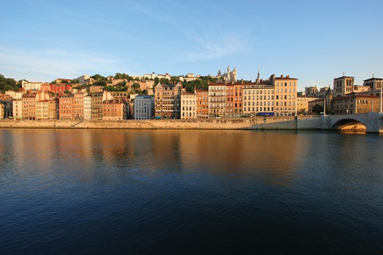 Old Lyon from across the Saône river