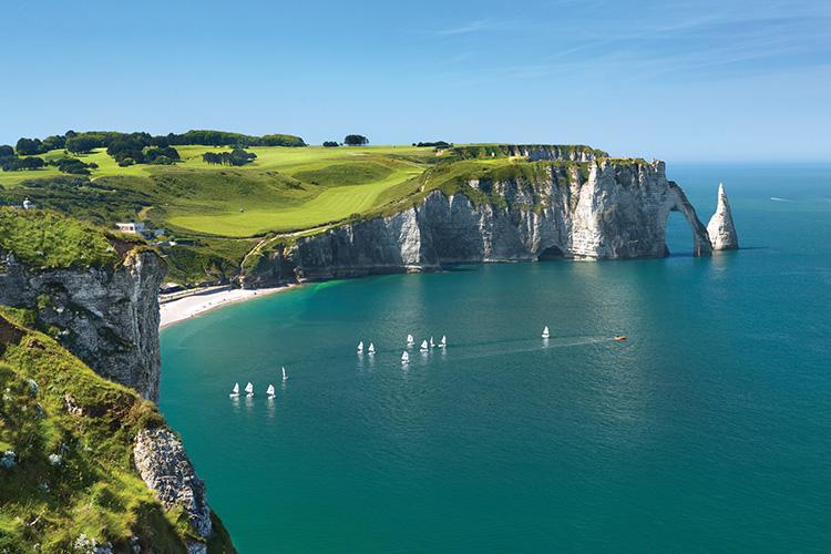 Étretat's famous falaises in Normandy