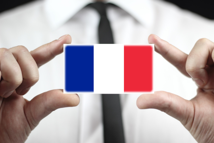 Obtaining French Residence French-residence someone holding up a small french flag card