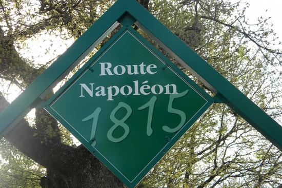 route napoléon signpost