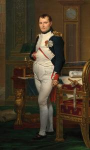 'Napoléon in his study', Jacques-Louis David, 1812