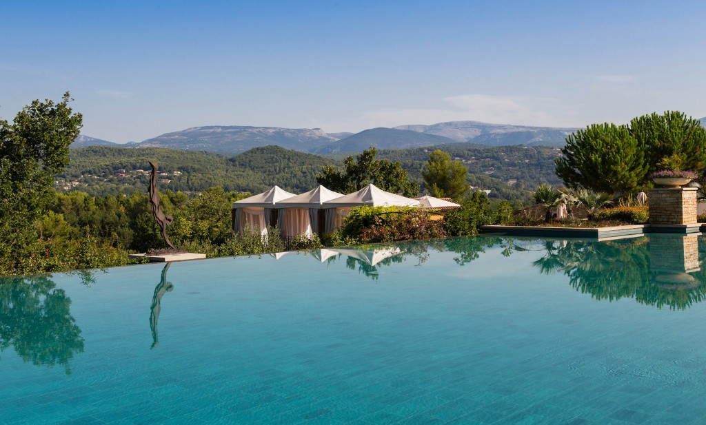 Terre blanche, France outdoor pool perfect for a pre-wedding health retreat