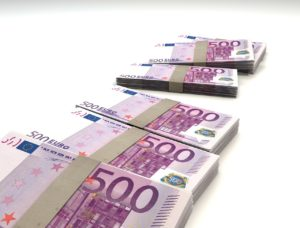300 euros in cash
