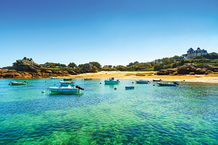 Perros-Guirec beach in Brittany