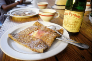 Brittany has great affordable cuisine such as crêpe
