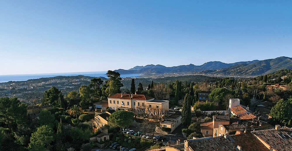 Mougins aerial view
