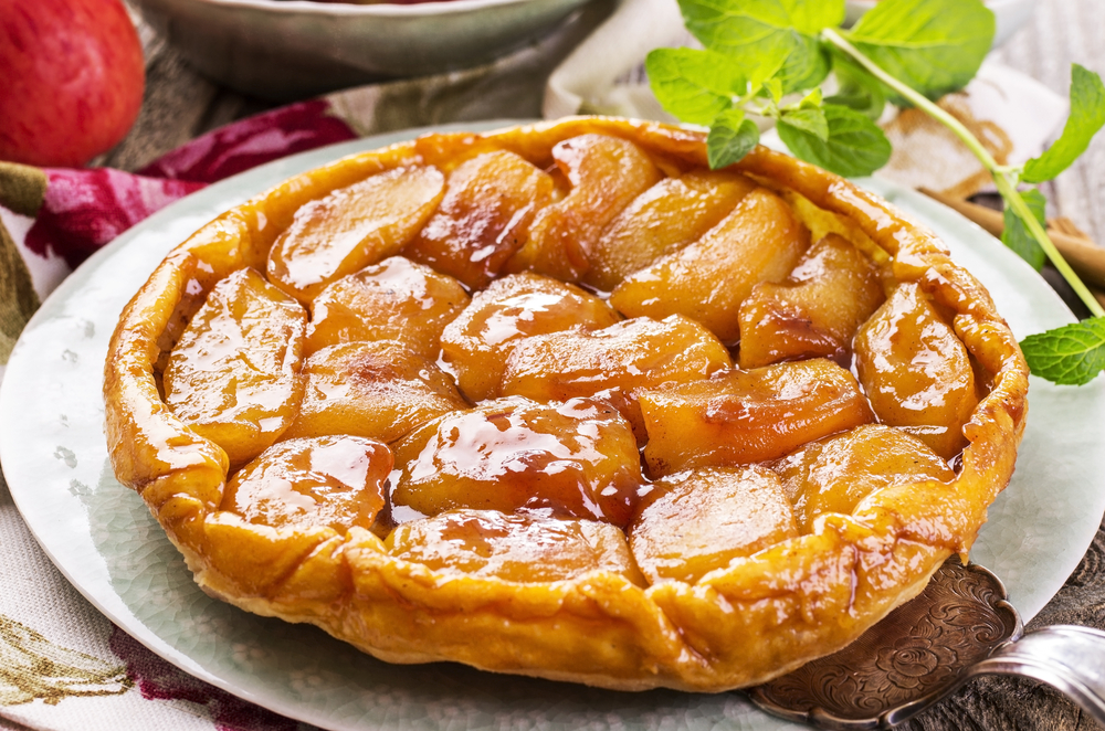 French food classics tarte tatin for French dishes