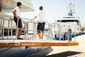 Yachting crew in France