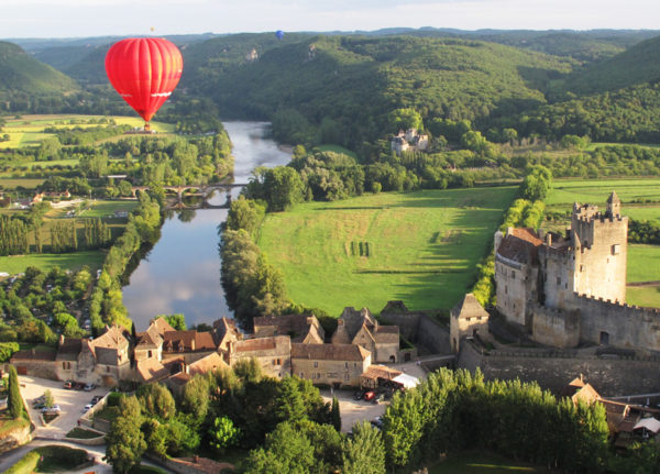 View of Beynac in the Dordogne