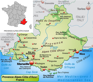 map of Provence for buying property