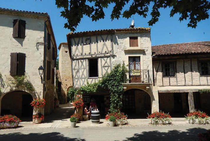 The bastide vllage of Fources in the Gers France Photo Amanda Garnham