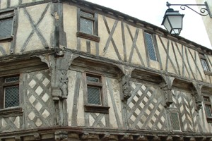 Half-timbered house in Charente