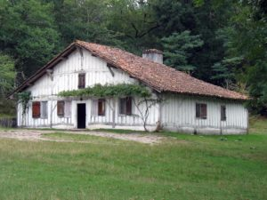 Half timbered Gascony house