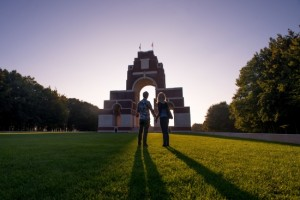 Thiepval Franco-British Memorial and visitor   Center in Somme, Picardy (Somme-Tourisme N.  B.)