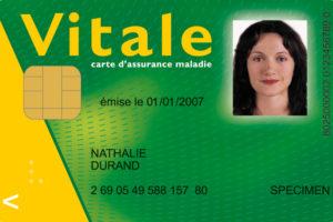 French Carte Vitale Photo by CNAMTS GIE SESAM via CC 30 Wikimedia