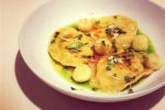 Crab ravioli with lemon mascarpone sauce by Masterchef contestant Annie McKenzie
