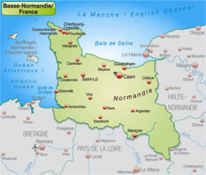 Lower Normandy map