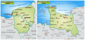 Lower and upper Normandy