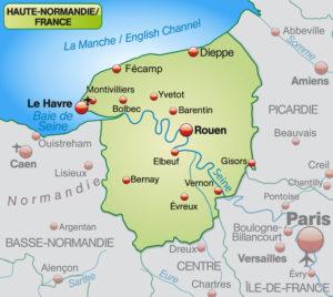 Upper Normandy map