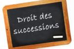 Droit des successions on a chalk board
