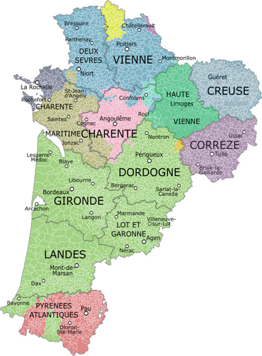 A guide to the departments of nouvelle aquitaine new - Arquitania business ...