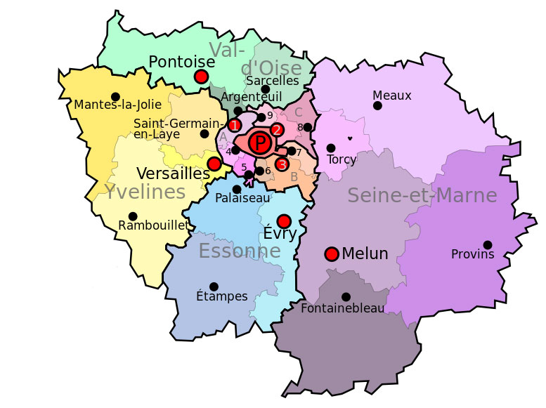 A guide to the departments of le de france new french regions - Ikea magasin ile de france ...