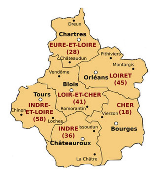 A Guide to the Departments of CentreVal de Loire New French Regions