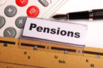 pensions on a label