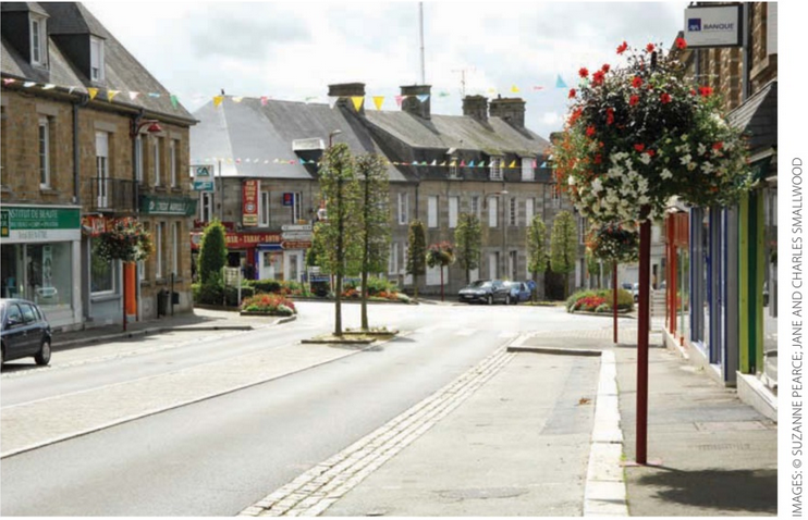 Sourdeval, lower normandy in France