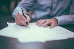 lasting power of attorney signing paperwork