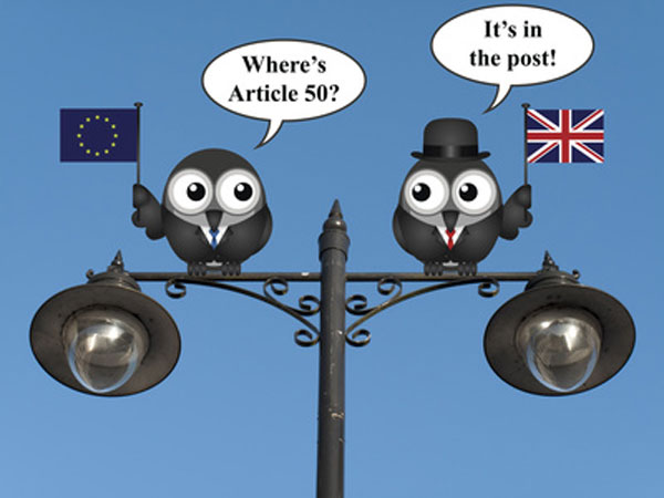 Illustration of people looking for article 50