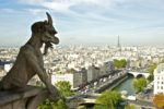 View of Paris towards the east from Notre Dame.