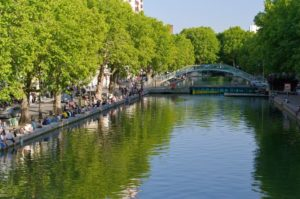 Canal Saint-Martin in France