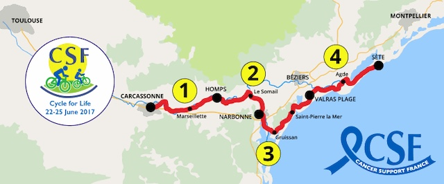 Cycle for life route