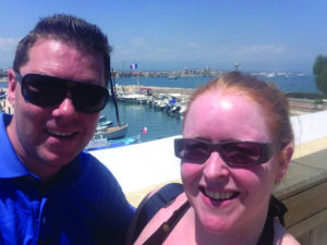 The couple in their new home town, Antibes