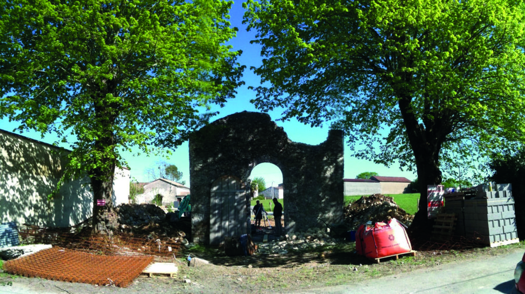 The start of the renovation of La Chapelle in France
