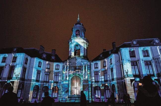 illuminations of the Rennes City Hall