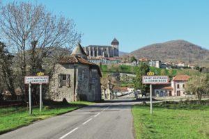 Entrance to a village in the Haute-Garonne
