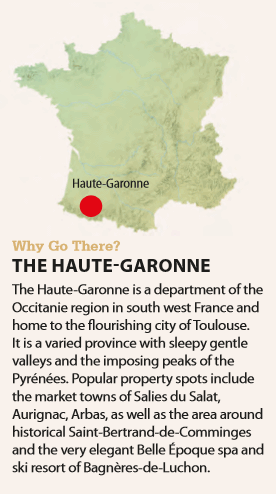 Map of the Haute-Garonne