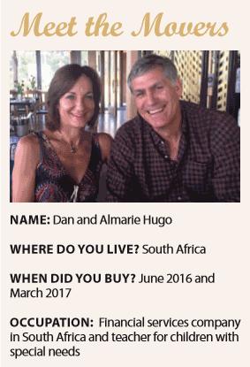 Movers Dan and Almarie Hugo
