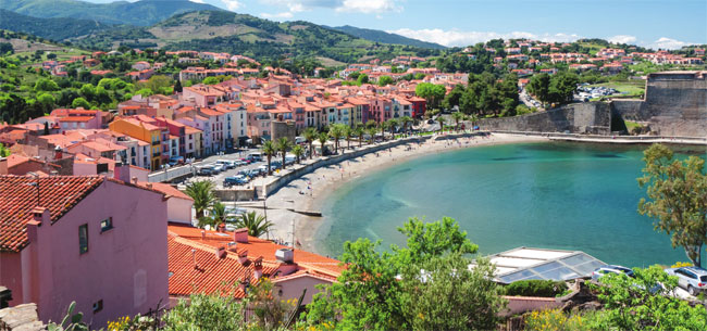 The picturesque town of Collioure, nestled in the foothills of the Pyrénées, is famed for its beaches