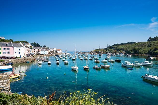 Boats docked at Morbihan, Brittany