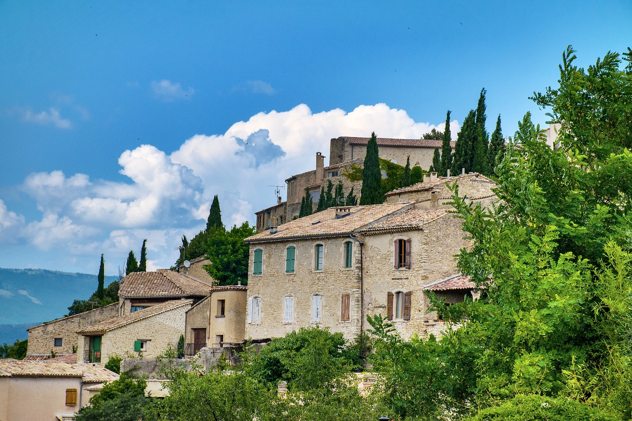 French houses together