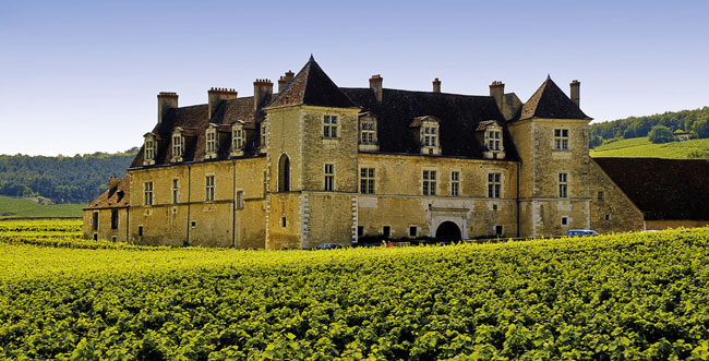 Château du Clos de Vougeot is home to one of Burgundy's world famous vineyards
