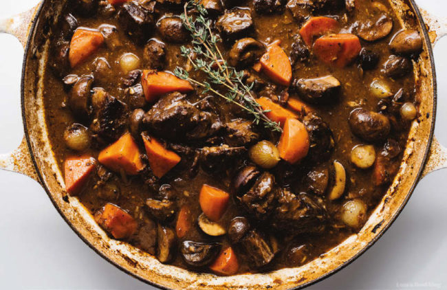 boeuf Bourguignon dish from Burgundy France