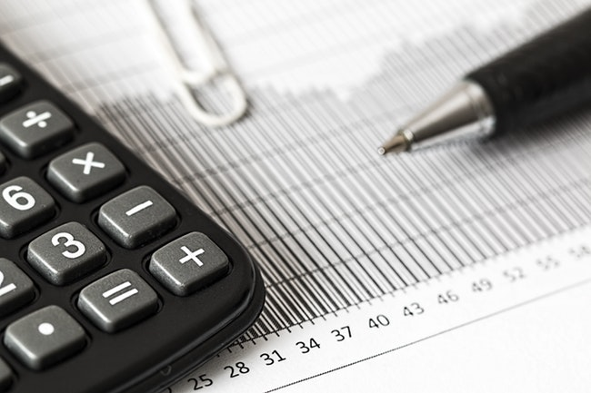 calculator on documents