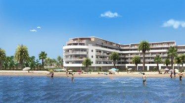 new build resort near a beach in France