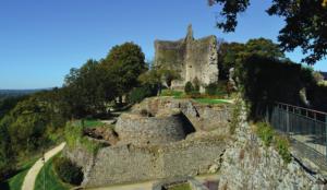 The ruins of the Château de Domfront